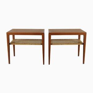 Tavolini di Severin Hansen per Haslev Mobelsnedkeri, anni '60, set di 2