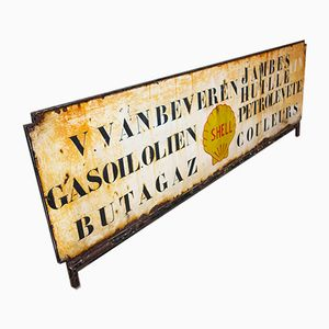 Vintage Doublesided Shell Sign