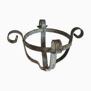 Soportes para maceteros antiguos de hierro. Juego de 2