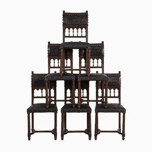 Antike Schlossstühle, 6er Set
