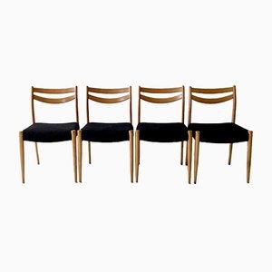Französische Mid-Century Beistellstühle, 1960er, 4er Set