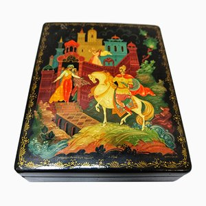 Russian Hand Painted Box, 1900s