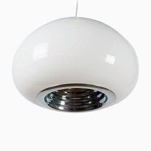 Lámpara de araña vintage en blanco y negro de Castiglioni Brothers para Flos