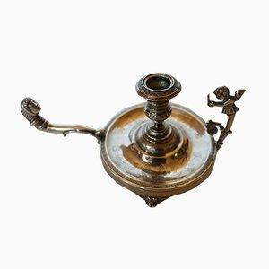 Silberner Mid-Century Kerzenhalter