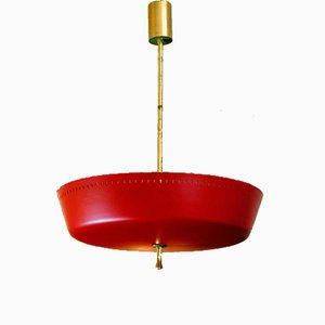Lámpara de araña roja, años 50