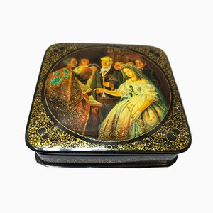 Antique Russian Hand Painted Box