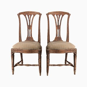 Swedish Gustavian Chairs, 1770s, Set of 2