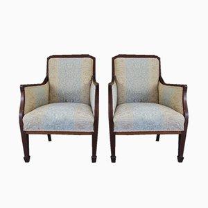 Antike edwardianische Sessel, 2er Set