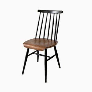 Ilmari Tapiovaara Style Black Lacquer Teak Chair, 1960s