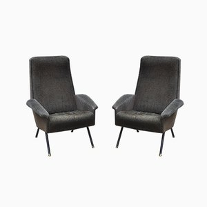 Mid-Century Italian Armchairs by Nino Zoncada, Set of 2