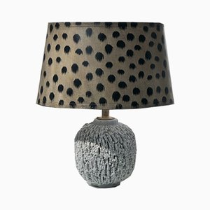 Cream-Colored Chamotte Table Lamp by Gunnar Nylund for Rörstrand, 1940s