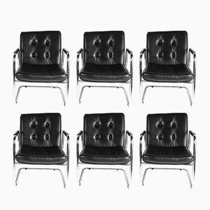 Italian Bauhaus-Style Armchairs, 1970s, Set of 6