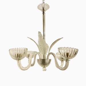 Vintage Murano Chandelier by Ercole Barovier, 1930s