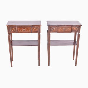 Antique Rosewood Bedside Tables, Set of 2