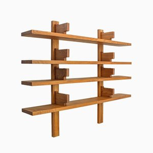 Solid Elm B17B Bookshelf by Pierre Chapo, 1970s