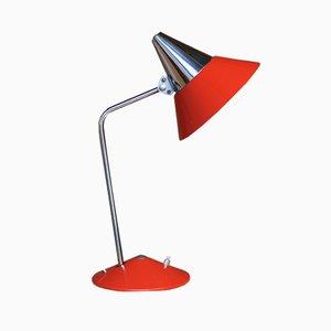 Rote Mid-Century Tischlampe von HELO Leuchten