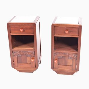 Antique Bedside Tables, Set of 2