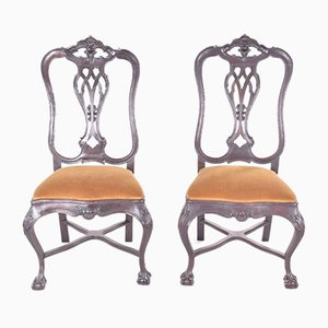 Antique Portuguese Dining Chairs by D. José, Set of 2