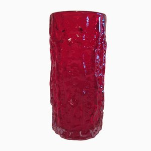 Ruby Glass Vase by Geoffrey Baxter for Whitefriars, 1960s