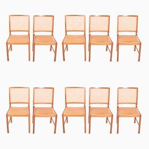 Chaises de Salle à Manger Mid-Century par Berndt Pedersen, Danemark, Set de 10