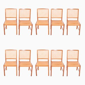 Mid-Century Danish Dining Chairs by Berndt Pedersen, Set of 10