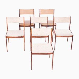 Mid-Century Esszimmerstühle von Johannes Andersen für Uldum, 6er Set