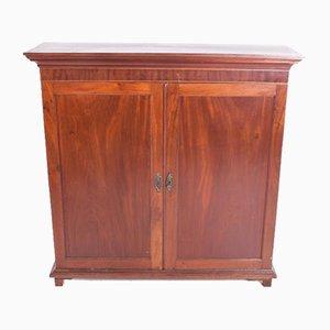 Mueble inglés vintage de caoba con dos puertas
