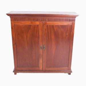 Vintage English Mahogany Two Door Cabinet