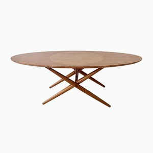 Vintage Model Ovalette Coffee Table by Ilmari Tapiovaara for Asko Oy Lahti, 1950s