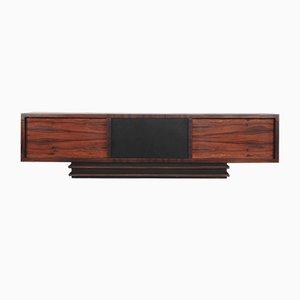 Art Deco Geometric Rosewood Executive Sideboard, 1950s