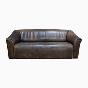 Vintage DS47 2-Sitzer Ledersofa von De Sede