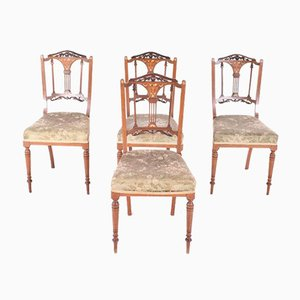 Vintage English Dining Chairs, Set of 4