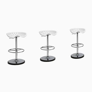 Vintage Bar Stools by Étienne Fermigier for MIRIMA, Set of 3