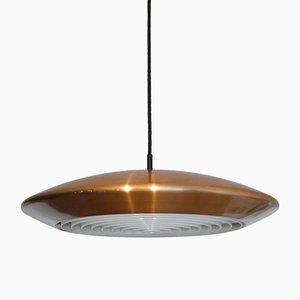 Lampe à Suspension Dyskos Vintage en Cuivre par Jo Hammerborg pour Fog & Morup