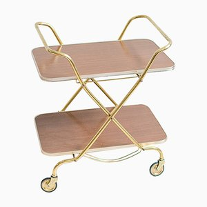 Vintage Formica Bar Cart on Wheels