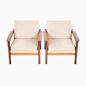 Danish Rosewood Armchairs, 1950s, Set of 2