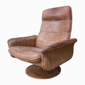 Chaise Pivotante DS50 Vintage en Cuir de de Sede
