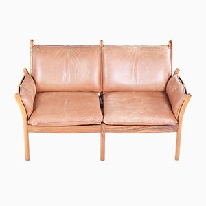 Vintage EB349 Two Seater Sofa by Illum Wikkelso for CFC