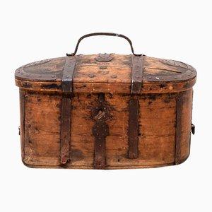 Baúl de viaje sueco de pino, siglo XVIII