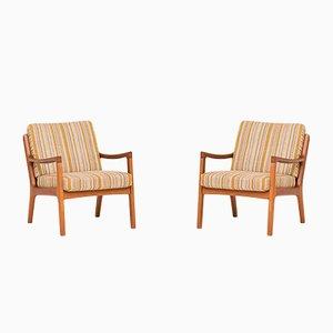 Modell 166 Sessel von Ole Wanscher für France & Son, 1950er, 2er Set