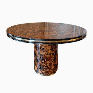 Mesa vintage de madera nudosa de Willy Rizzo, años 60
