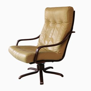 Sillón reclinable danés Mid-Century, años 70