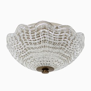 Lámpara colgante de vidrio de Carl Fagerlund para Orrefors, años 60