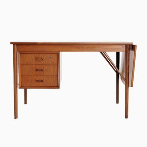 Danish Desk by E. W. Bach for Oddense Maskinedkeri A.S, 1950s