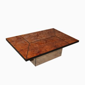 Vintage Elm Coffee Table By Paul Michel For Roche Bobois, 1970s