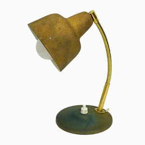 Small Golden Lamp from Aluminor, 1950s