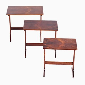Tables Gigognes en Palissandre par Erling Torvits pour Heltborg Møbler, Danemark, 1960s