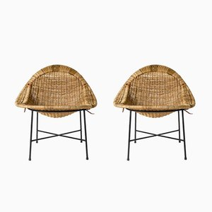 Lilla Kraal Armchairs by Kerstin Hörlin-Holmquist for Nordiska Kompaniet, 1950s, Set of 2