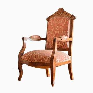 Antiker Isabelina Armlehnstuhl aus Holz