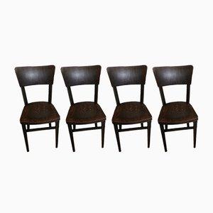 Vintage Esszimmerstühle von Michael Thonet, 4er Set